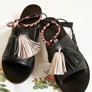 Johnny Was Antik Batik Black Youri Sandal, NWT